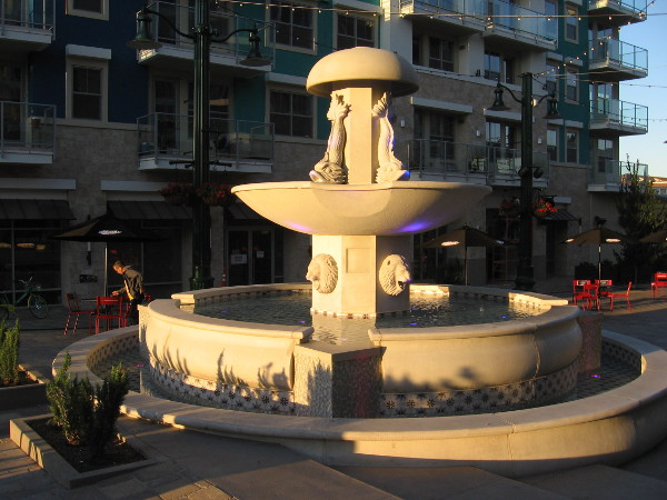 The fountain at the east end of Piazza della Famiglia.