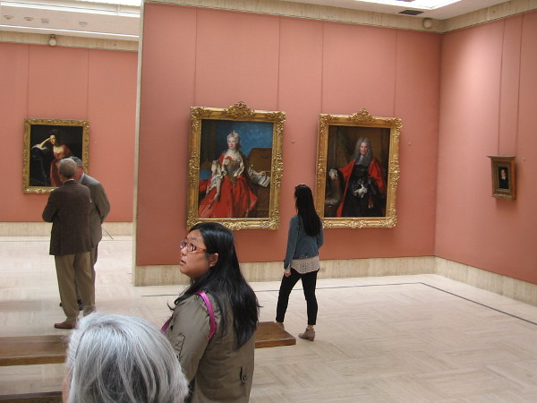 Inside one of the galleries. The small fine art museum is free to the public and a popular destination in Balboa Park.