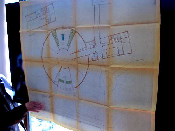 Also displayed was one early Timken architectural design concept, where the building would have been circular.