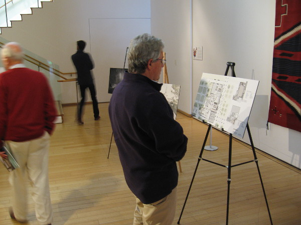 Visitor to the Mingei learns about the museum's upcoming transformation during the San Diego Architectural Foundation's 2018 OPEN HOUSE event.
