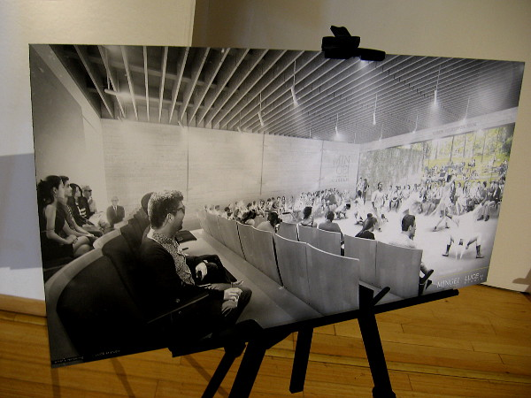 Rendering of the theater that will add even more life to the Mingei International Museum.