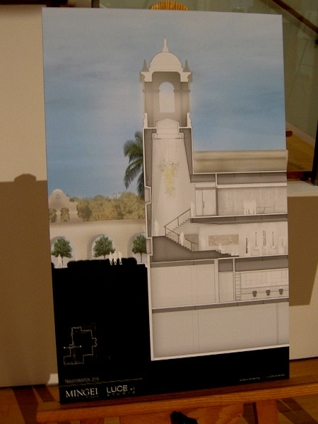 Stairs to the second floor Gallery Level will ascend through the House of Charm's iconic tower. A new entrance to the museum will be added at the east end of the Alcazar Garden.