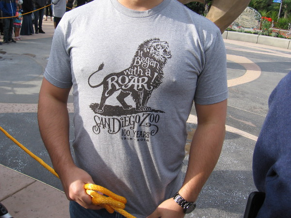 I learned this cool It Began With a Roar t-shirt logo was designed by a lady in the zoo's marketing department. Very nice!