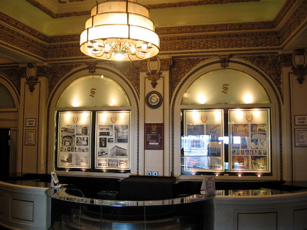The very elegant concession counter in the theatre, still in use today.