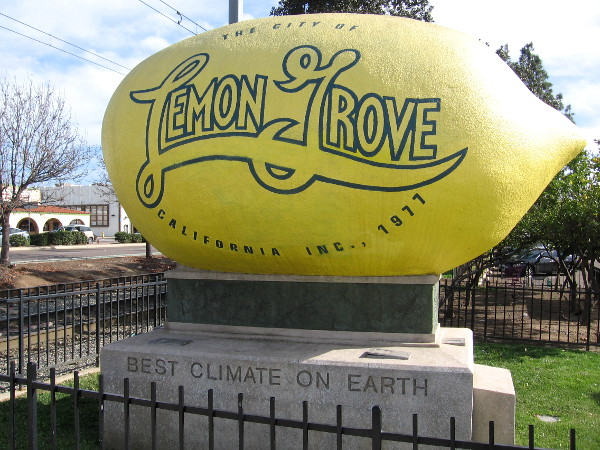 Lemons have a history of thriving in Lemon Grove, a community that claims to have the Best Climate on Earth!