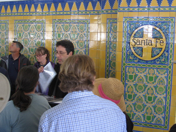 We learn about the beautiful tilework throughout the depot.