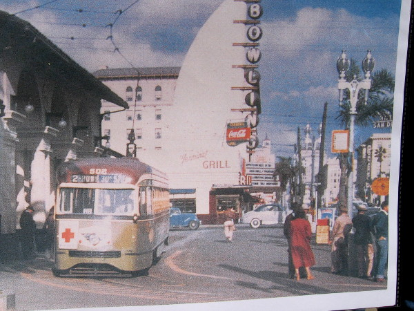 Streetcars used to run along Broadway right up to the old forecourt!