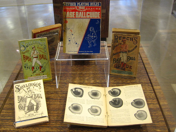 Examples of Reach's Official Base Ball Guides and Spalding's Official Base Ball Guides, dating as far back as 1876!