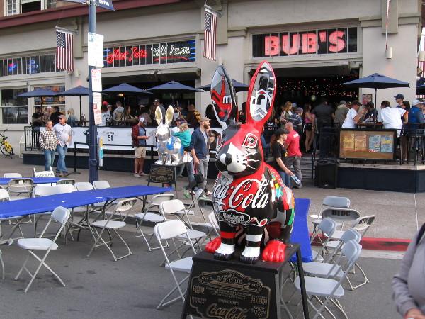 More fun rabbit sculptures in front of Bub's.