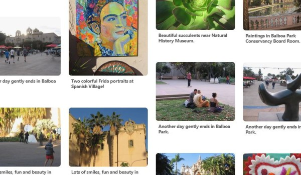 Pinterest pins of beautiful Balboa Park!