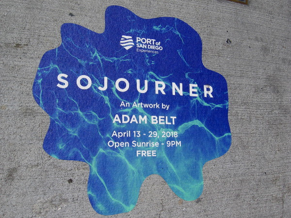 Sojourner is temporary public artwork near the end of San Diego's Broadway Pier, by local artist Adam Belt.
