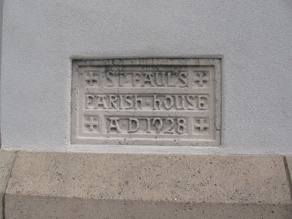 Construction of St. Paul's Parish House or Great Hall began in 1928.