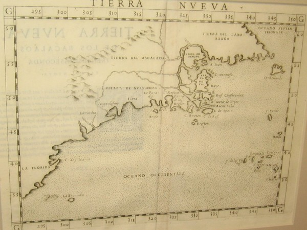 Eastern North America, Girolamo Ruscelli, 1561. Little was known about the inland geography.