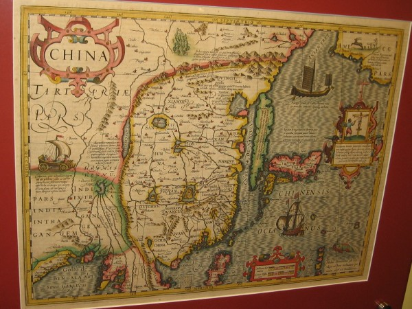 China, Japan and Korea, Jodocus Hondius, 1606. Copperplate engraving from the Mercator Atlas.