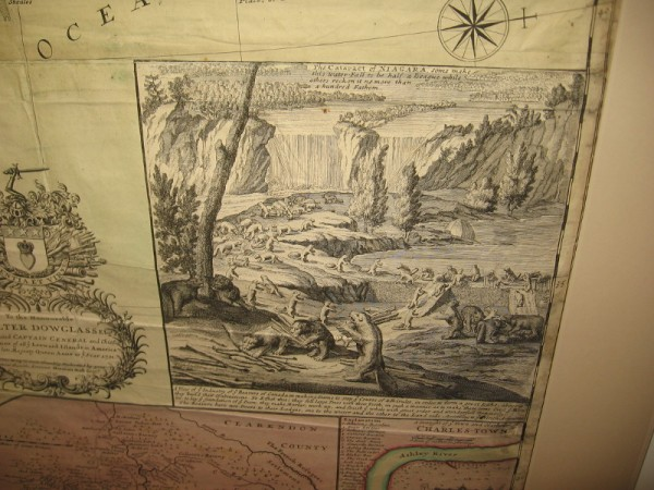 Eastern North America, Hermann Moll, 1715. Beautiful illustration on what is commonly called the beaver map, which was copied from an earlier 1698 map by Nicolas de Fer.