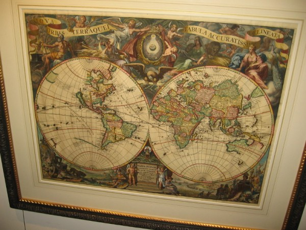 Nova Orbis Terraquei Tabula Accuratissime Delineata, Pieter Van Der Aa, 1713. I love the extensive Latin name given to this highly ornate copper-plate engraving Dutch map!