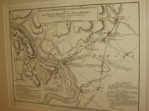 New Jersey and Pennsylvania, William Faden, 1777. Plan of the Operations of General Washington, against the King's Troops in New Jersey.