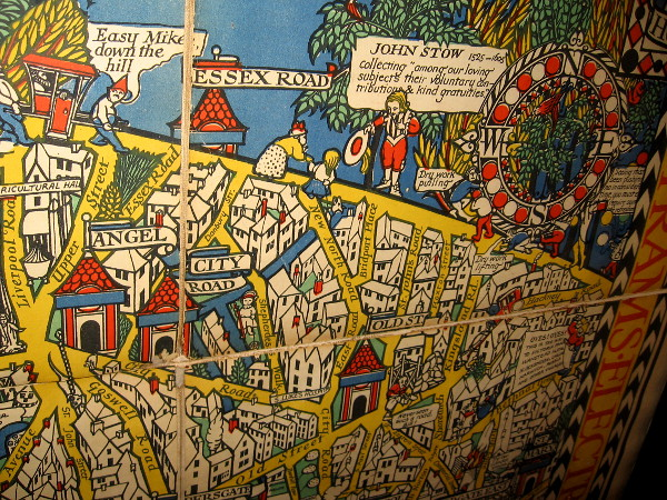The Wonderground Map of London Town, MacDonald Gill, 1915. This small section shows some of the delightful retail map's humor.