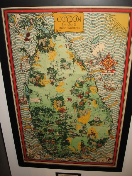 A Map of Ceylon showing her Tea and Other Industries, MacDonald Gill, ca. 1934.