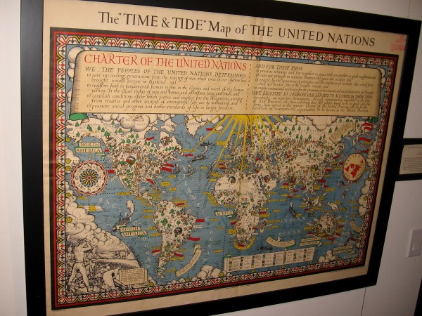 The Time and Tide Map of the United Nations, MacDonald Gill, 1948.