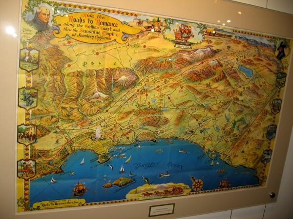 Southern California, Roads To Romance, a tourist map ca. 1958.