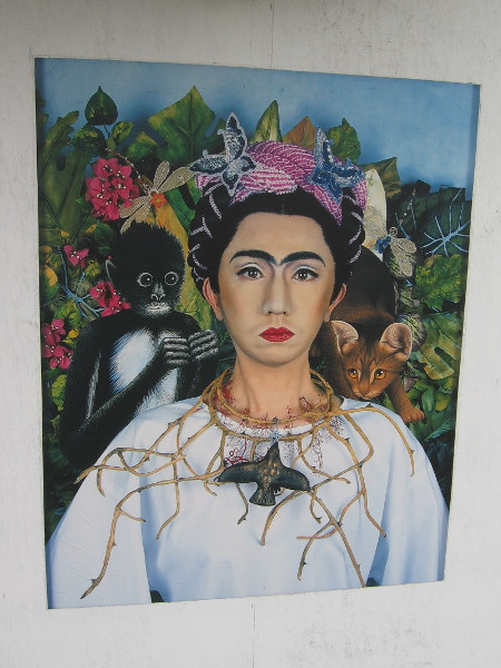 An Inner Dialogue with Frida Kahlo (Collar of Thorns), Yasumasa Morimura, 2001.