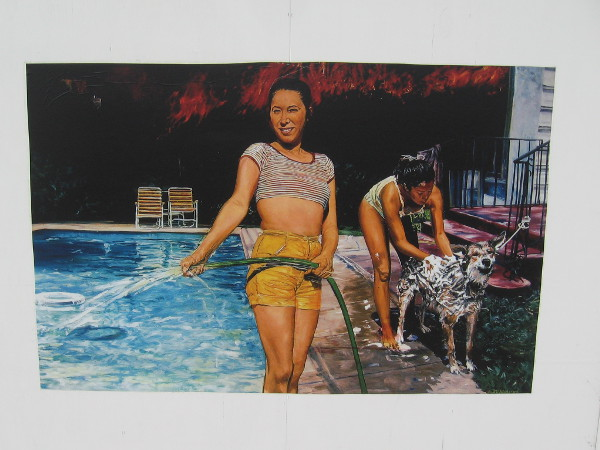 Pool Party, John Valadez, 1986.
