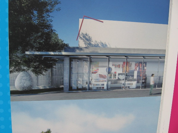 Another rendering depicts a front corner of the museum after expansion.