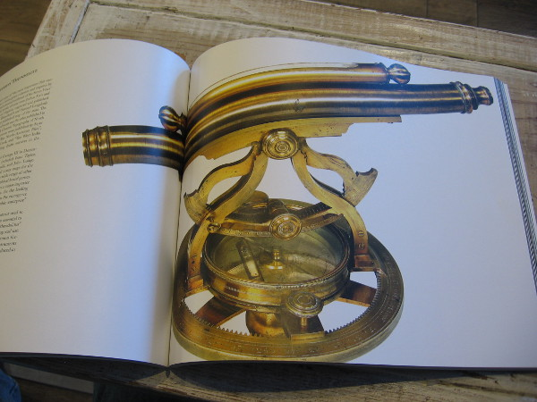 Thomas Jeffery's brass theodolite, part of the museum's collection. Jeffery was geographer to King George III. The antique theodolite is pictured in the book The Cartographical Collection of Michael R. Stone.