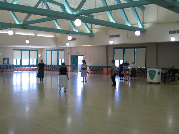 I watched a bit of folk dancing by the Cabrillo Dancers inside the Balboa Park Club.