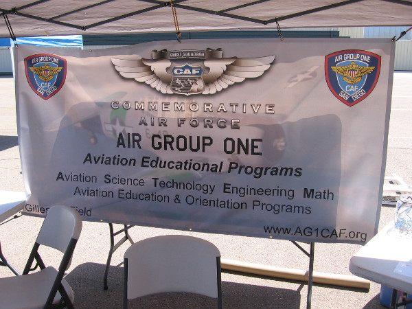 Banner promotes Air Group One's Aviation Educational Programs.