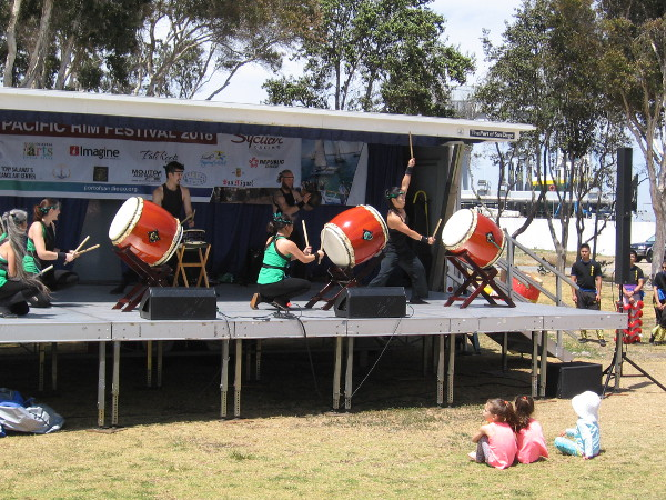 A performance by Japanese drummers at the 2018 Pacific Rim Festival in Chula Vista.