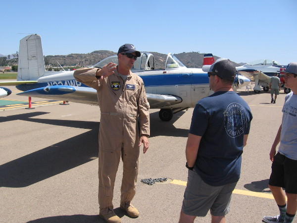 This super nice guy was a pilot for the United States Air Force. He now flies T-34 aircraft as a member of the March Field Aero Club in Riverside.