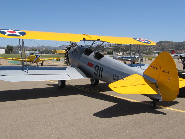 This Stearman (Boeing) Model 75 biplane from the World War II era was painted to honor victims of 9/11.
