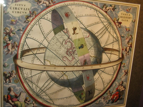 The Location of the Earth, Encircled by the Celestial Circles, Andreas Cellarius, 1660.