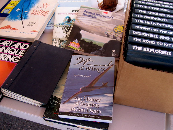 Many books could be found, including one about the history of soaring in San Diego.
