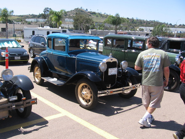 Lots of vintage cars were also on display. The San Diego Model A Club was well represented.