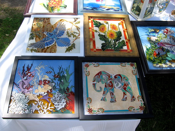 Beautiful crafts were also on display and available for purchase. A nice lady made this amazing glasswork by hand.