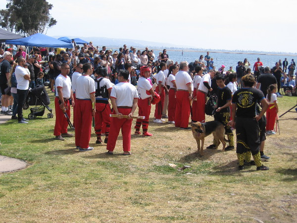 As I returned to the stage, students from the Cardenas School of Modern Arnis had assembled.