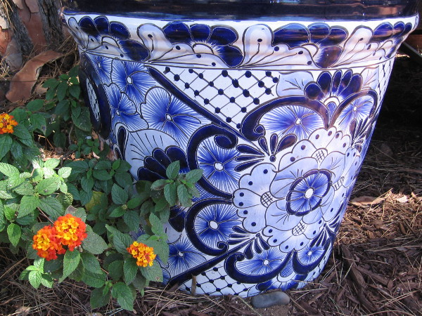 Beautiful pottery with floral designs can be found throughout Old Town.