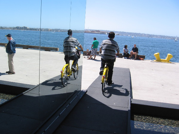 A bicyclist journeys through some cool public art in San Diego!