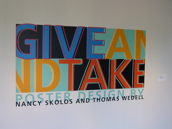 Give-and-Take: Poster Design by Nancy Skolds and Thomas Wedell.