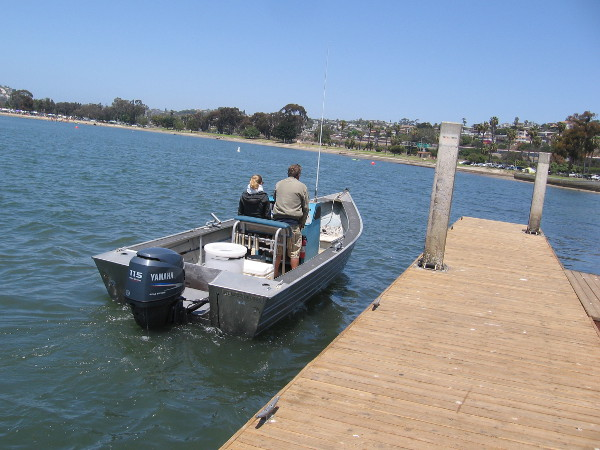 Some boaters come in from a pleasant Saturday out on the water.