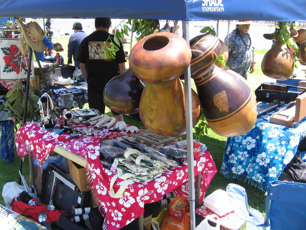 Lots of crafts and colorful clothing could be found at Shaka Fest.