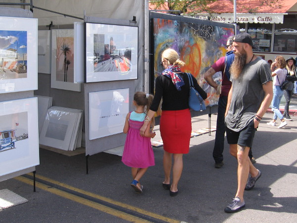 Hundreds of artists had their work out on the streets of Little Italy at the 2018 Mission Federal ArtWalk.
