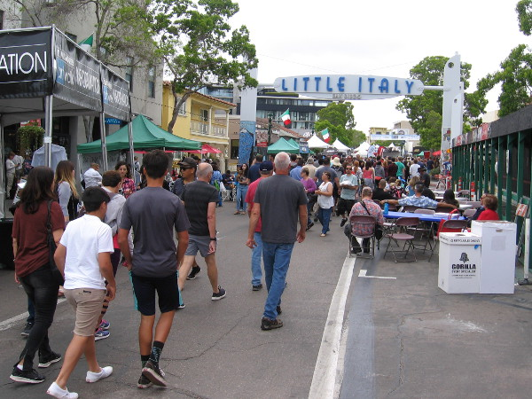 A crowd of art aficionados converged on San Diego's Little Italy neighborhood.