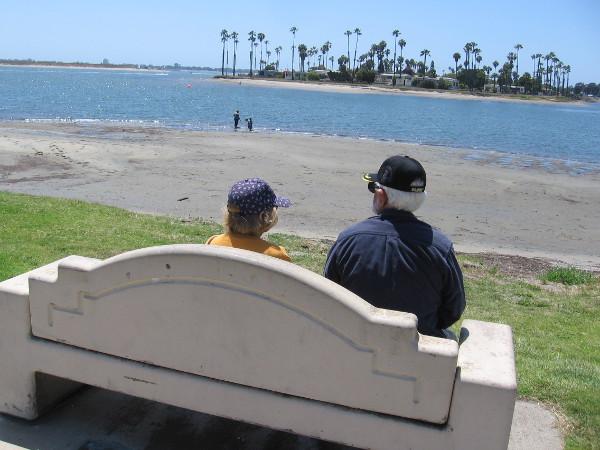 Enjoying another day of San Diego sunshine.