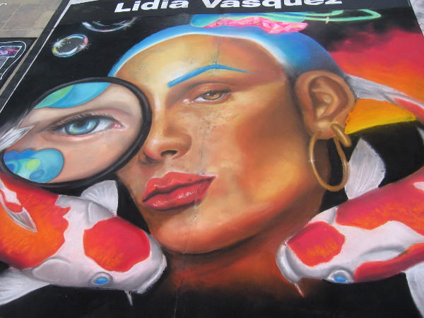 Another superb chalk art piece by young local phenom Lidia Vasquez.