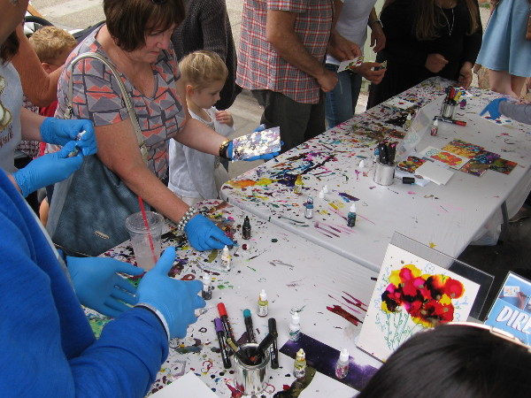 They also had a table nearby for anybody who'd like to create their own art!