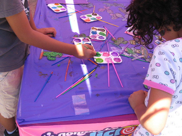 Several Balboa Park museums and organizations had tables in the plaza where kids could create Cinco de Mayo-themed artwork.